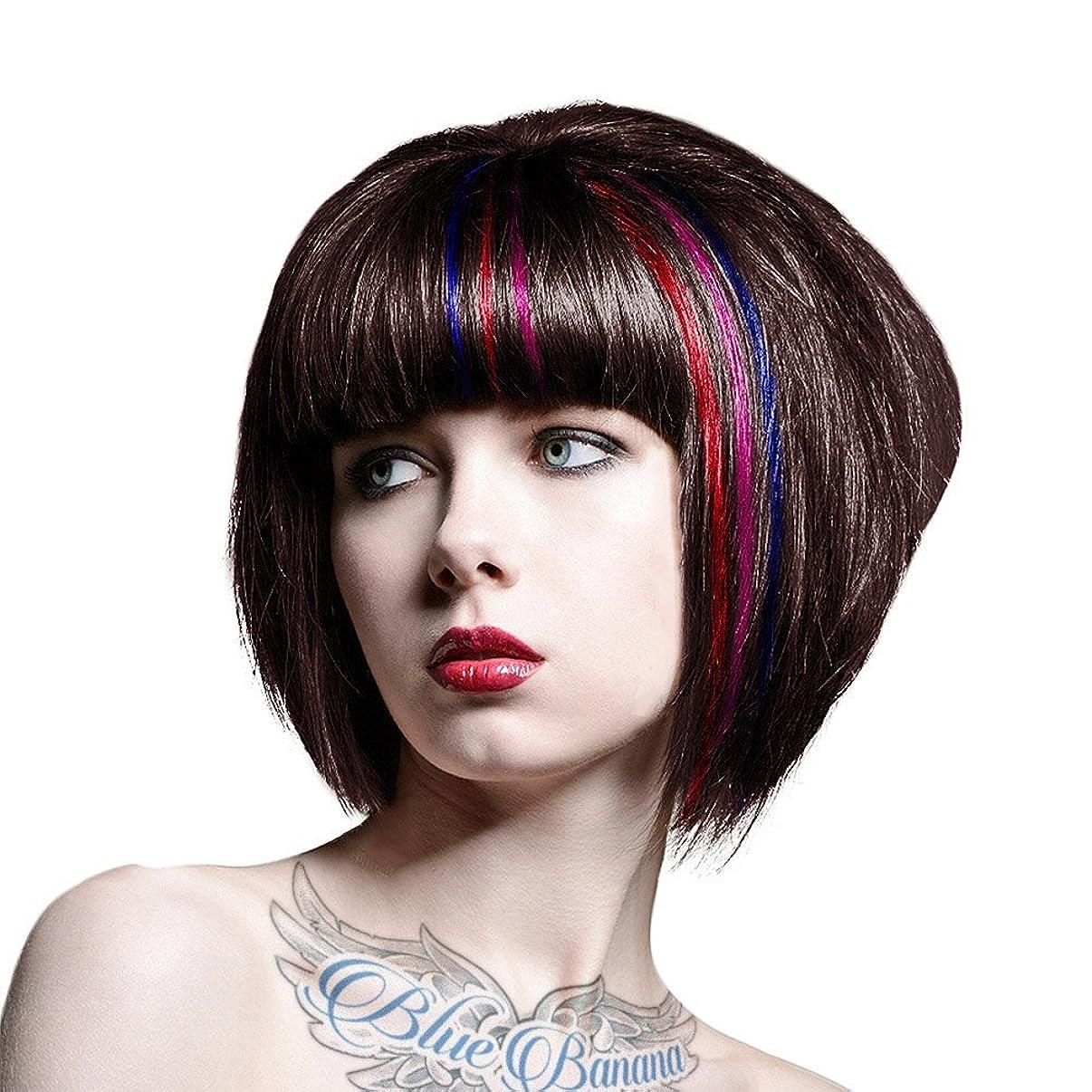 スカープめる汚れるSplat 3 Color Accent Kit Cherry Pop Kelly Blue Sweet Ruby Extreme Shocking Expressive Long Lasting Semi Permanent Hair Color (1 Box) by Splat