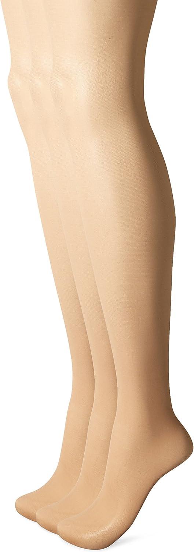 L'eggs Women's Energy 3 Pack Control Top Sheer Toe Panty Hose