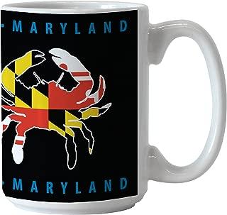 Boelter Brands Maryland Crab Sublimated Coffee Mug, 15-ounce, Black