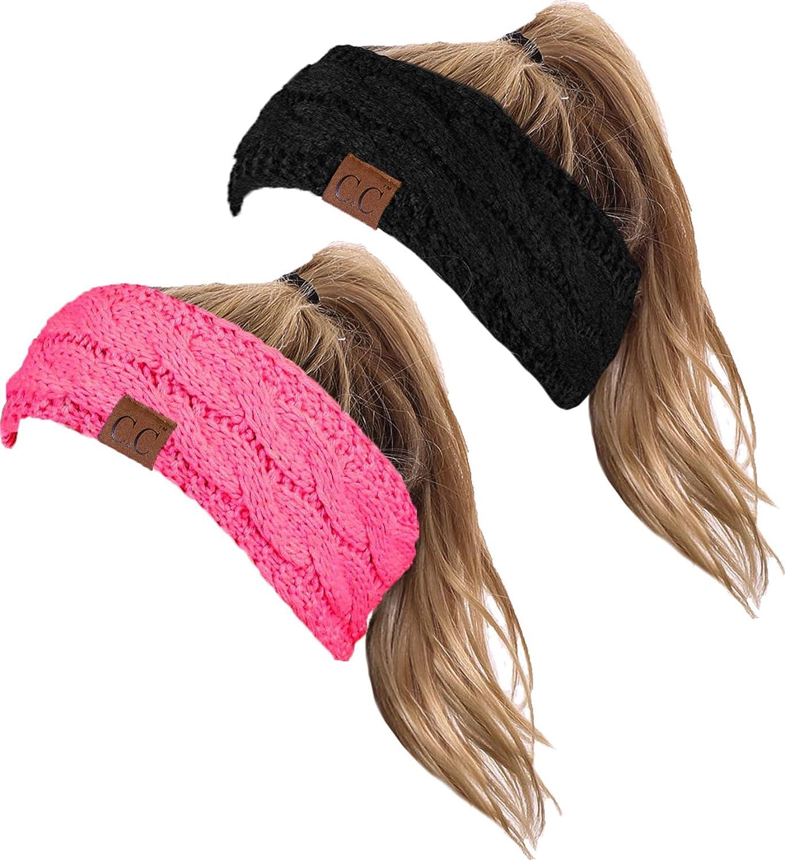 HW-6033-2-20a-0680 Headwrap Bundle - Black & Candy Pink (2 Pack)
