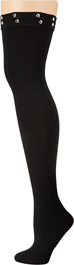 Betsey Johnson - Spike Stud Thigh High Socks