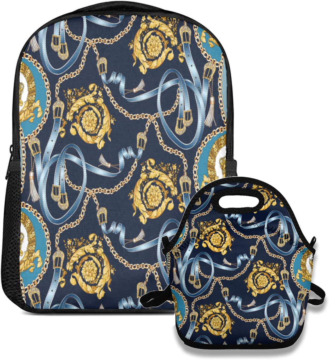 backpack and lunch bag set multicolor Limited price sale Seamless with Pais pattern Max 58% OFF