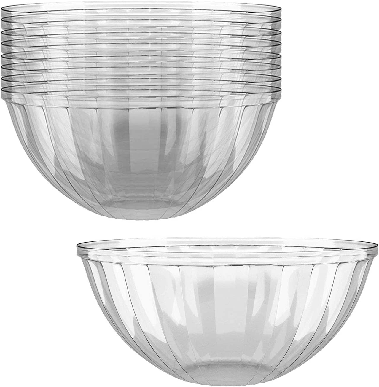 Clear Plastic Serving Bowls Sales of SALE items from new works for Parties Round Oz. Max 88% OFF 12 48 Pack