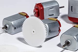 DC Motor Mini Electric Motor 3-6V Remote, Baker 16000-17000RPM 130 Micro Motor Control Toy Car 5pcs with 15 gears (Silver + Red)