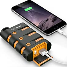 FosPower PowerActive 10200 mAh Power Bank - 2.1A USB Output [Water/Shock/Dust Proof] Rugged Heavy Duty Portable Battery Charger for iPhone/iPad, Android Smartphones, Tablets & MP3