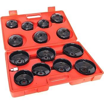 Reparaci/ón de filtro de aceite de Suuonee 14 cm Tipo de cadena de servicio pesado Retiro de la llave del filtro de aceite Herramientas de reparaci/ón de autom/óviles universales