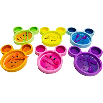 Kids Trends Cartoon Shaped Smiley Plates for,Return Gifts for Kids Birthday Party (Pack of 6)