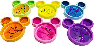 Kids Trends Cartoon Shaped Smiley Plates for,Return Gifts for Kids Birthday Party (Pack of 12)