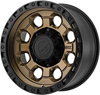 ATX SERIES AX201 Matte Bronze With Black Lip Wheel with Brushed and Chromium (hexavalent compounds) (17 x 9. inches /6 x 106 mm, -12 mm Offset)