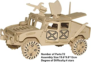 3D Puzzles Assembly DIY Education Toy 3D Wooden Model Puzzles Cool Running Chariot Car