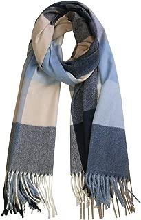 SOJOS Classic Plaid Tartan Cashmere Scarf for Women Men Soft Scarves SC316