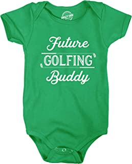 Creeper Future Golfing Buddy Baby Bodysuit Funny Sports Golf Shirt