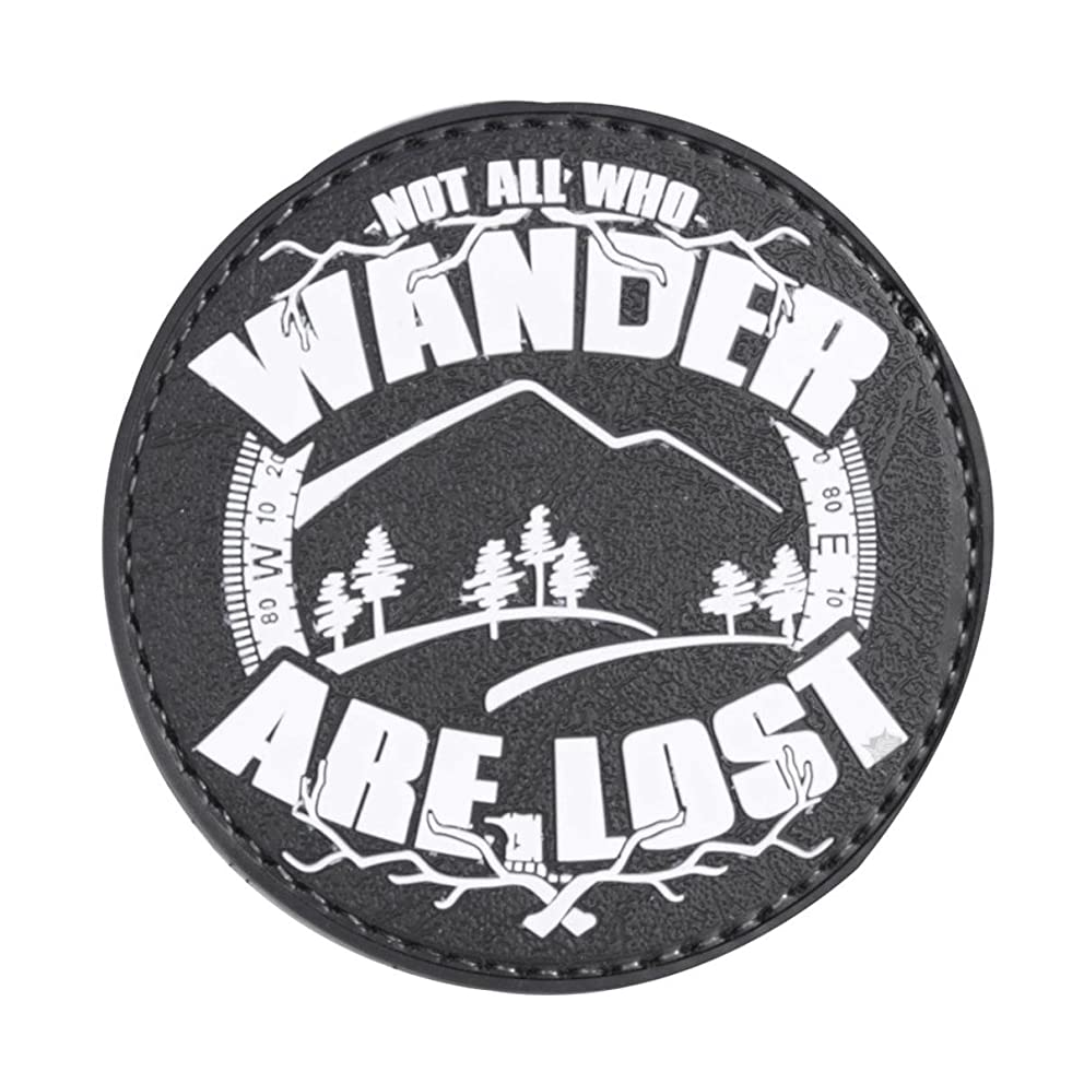 5ive Star Gear Not All Who Wander are Lost Night Glow PVC Morale Patch, 2.75