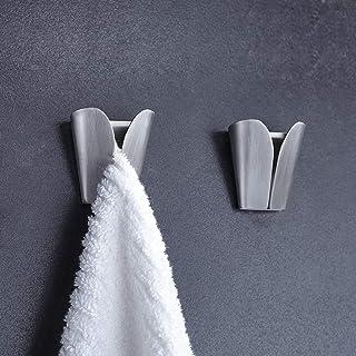 Lifreer Kitchen Towel Holders 2 Pieces Self Adhesive Towel Holders Hook Rack Towel Hangers Hand Towel Hook Tea Towel Holde...
