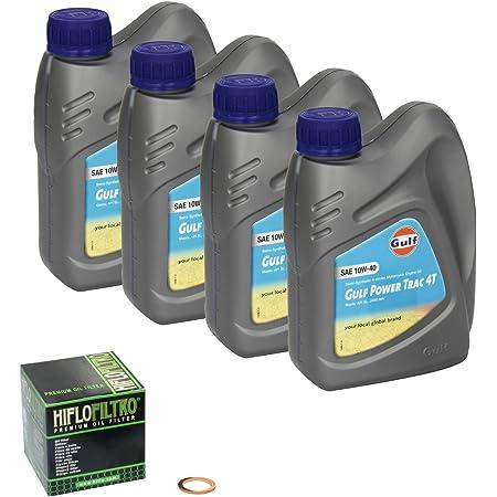 Gulf Power Trac 10w 40 Ölwechsel Set Suzuki Savage 650 Ls 650 Bj 86 00 Motoröl Hiflo Ölfilter Und Dichtring Auto