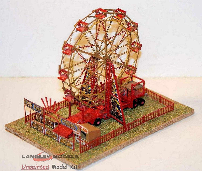 Langley Models Funfair Big Wheel Set Motorised N Scale 1 148 UNPAINTED Kit NQ13+MOT