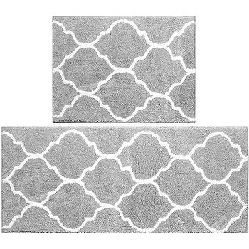 Brun-Microfibre, 50x80cm ARNTY Tapis de Bain Antiderapant,Tapis de Douche Absorbant en Microfibre Chenille Tapis Bain pour Salle de Bain,Cuisine,Toilette