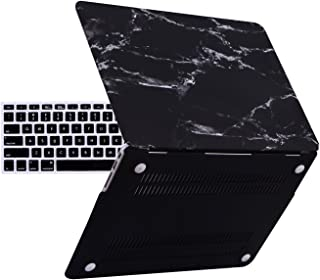 HDE MacBook Air 13 inch Case - Hard Shell Cover Keyboard Skin Fits Previous Generations A1466 A1369 (2008-2017) - Black and White