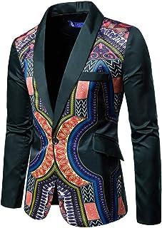 New African Fashion Dashiki Cardigan Men Jacket Long Sleeve Printed Coat