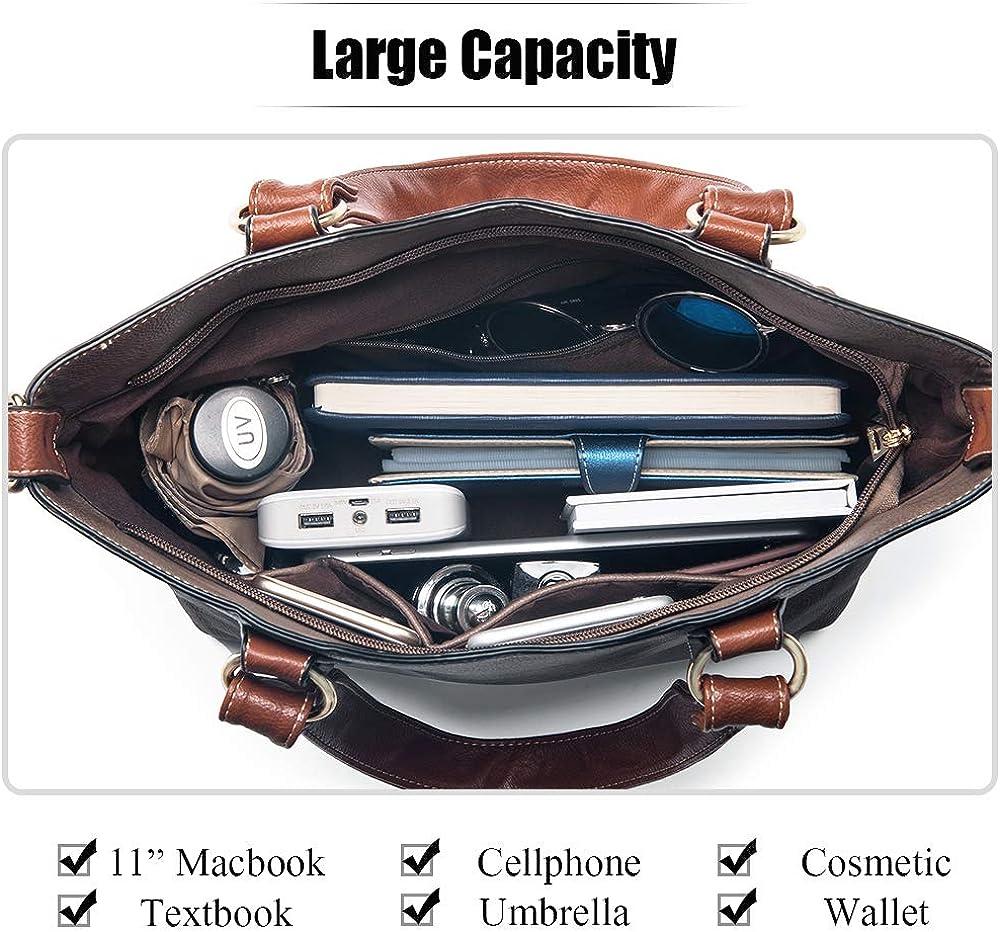UTAKE Handbags for Women Tote Shoulder Bags PU Leather Top Handle Purse Medium Size