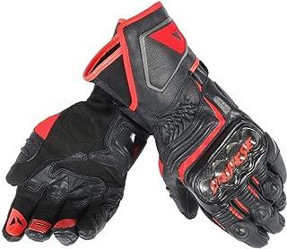 Dainese Carbon D1 Long Gloves (Large) (Black/Black/Fluorescent RED)