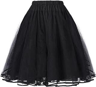 Belle Poque Women's Petticoat Crinoline 50's Christmas Tutu Underskirts (2 Layers)