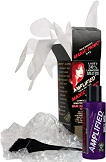 Manic Panic Purple Violet Night Amplified Hair Coloring Kit, Vegan Semi-Permanent Purple Hair Dye Cream, 3X Pigments & Lasts 30% Longer Than Classic Formula (6-8 Weeks), Ammonia-free, Ready to Use