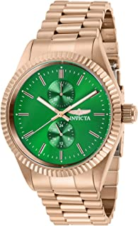Men's Specialty Quartz Watch with Stainless Steel Strap, Rose Gold, 22 (Model: 29434)