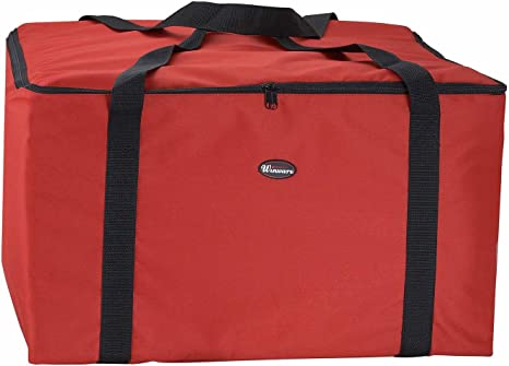 Set of 3 22-Inch by 22-Inch by 13-Inch Winco BGDV-22 Pizza Delivery Bag