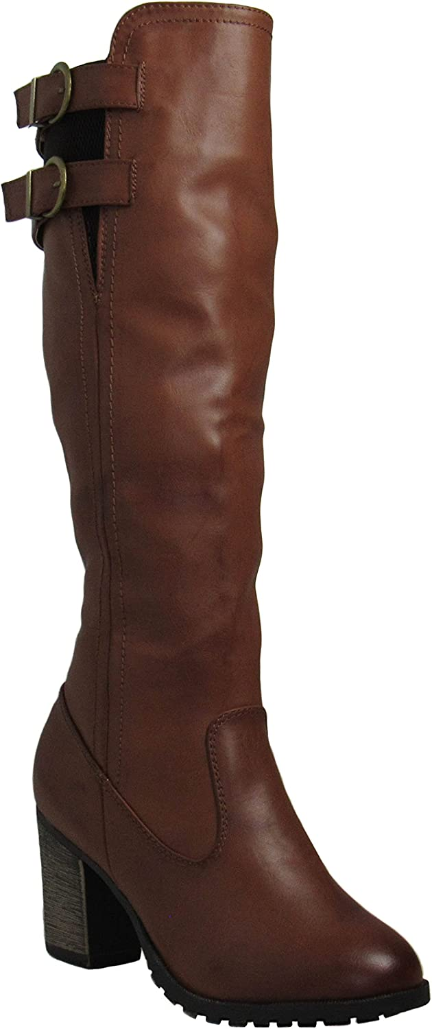 Bamboo Womens Rattle-14 Tan Boots 9 D(M) US