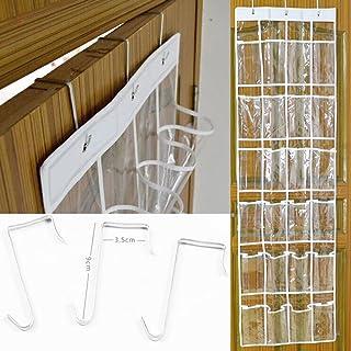 MINISKY le Rangement des Chaussures transparent à suspendre derrière de Porte 24 Poches épargne d'espace Organisateur Coll...