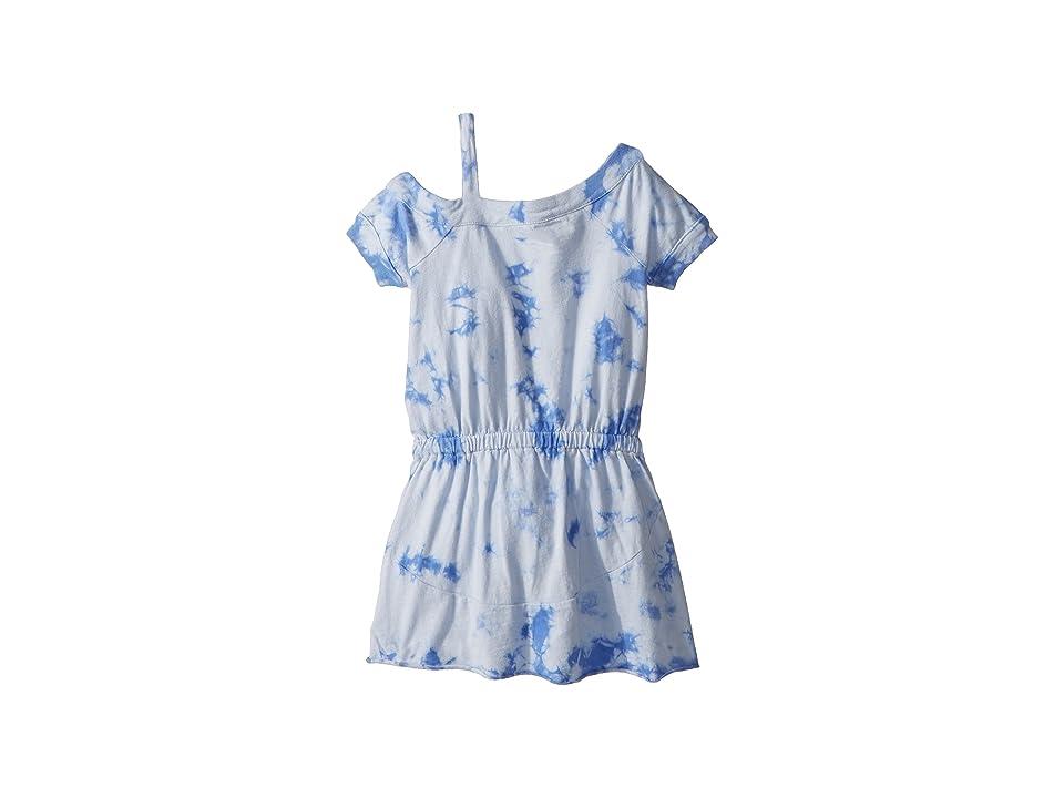Splendid Littles One Shoulder Tie-Dye Dress (Toddler) (Hydrangea) Girl