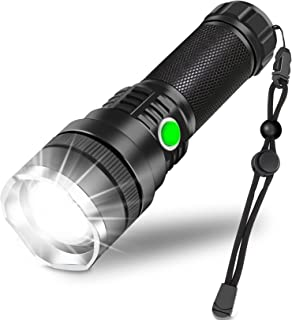 Rechargeable LED Flashlight,10000 Lumen Super Bright Tactical Flashlights,Zoomable,3 Modes,Emergencies Waterproof Flashlig...