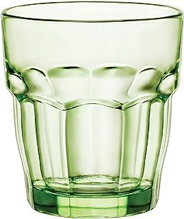 Bormioli Rocco Rock Bar Lounge Mint Whisky 270ml, grün, gehärtetes Glas, 6 Stück
