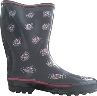 Rubber Rain Boots Women's South Carolina Gamecocks Size Inspired Mid Calf Whole Sizes