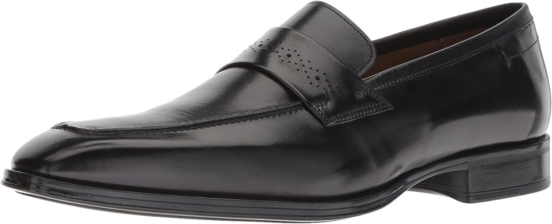 ALDO Men's YBISIEN Loafer, Black Leather, 13 D US