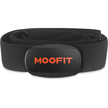 moofit ANT+ Heart Rate Monitor with Chest Strap Bluetooth HR Sensor IPX7 Waterproof Compatible with Zwift, Wahoo Fitness, Rouvy, Peloton, Strava for iOS, Android (MooFit app Unavailable)