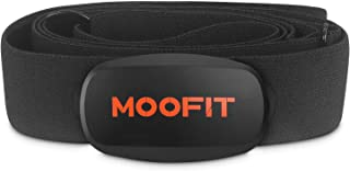 MOOFIT Heart Rate Monitor with Chest Strap Bluetooth & ANT+ Chest Heart Rate Sensor IPX7 Waterproof Fitness Tracker Compatible with Zwift, Wahoo Fitness, Rouvy, Peloton (MooFit app Unavailable)