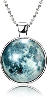 Moon Necklace Glow in The Dark Magical Fairy Necklace for Women Girls
