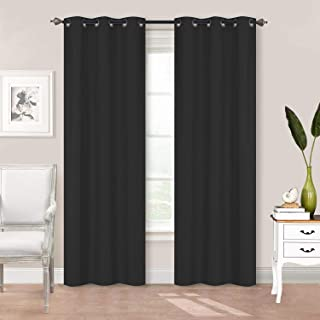 Better Home Style 2 Piece Solid Color 100% Blackout Room Darkening 2 Panels Window Treatment Curtain Insulated Drapes for ...