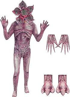 Kids Demogorgon Costumes Halloween Zentai Bodysuit Jumpsuit Dress Up Horror Cannibal Flower Cosplay Party Full Set