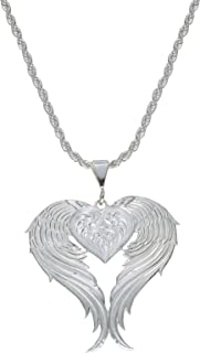 Montana Silversmiths Women's Silver Winged Heart Necklace - Nc1129