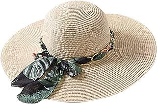Farmerl Women's Summer Bohemia Wide Side Floppy Foldable Beach Wedding Straw Hat