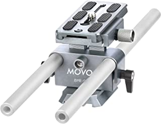 Movo BPR-9 Universal Baseplate System with 15mm Rods and Quick Release Plate for DSLR and Mirrorless Cameras