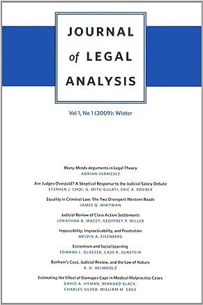 Journal of Legal Analysis 2009: Summer: 1