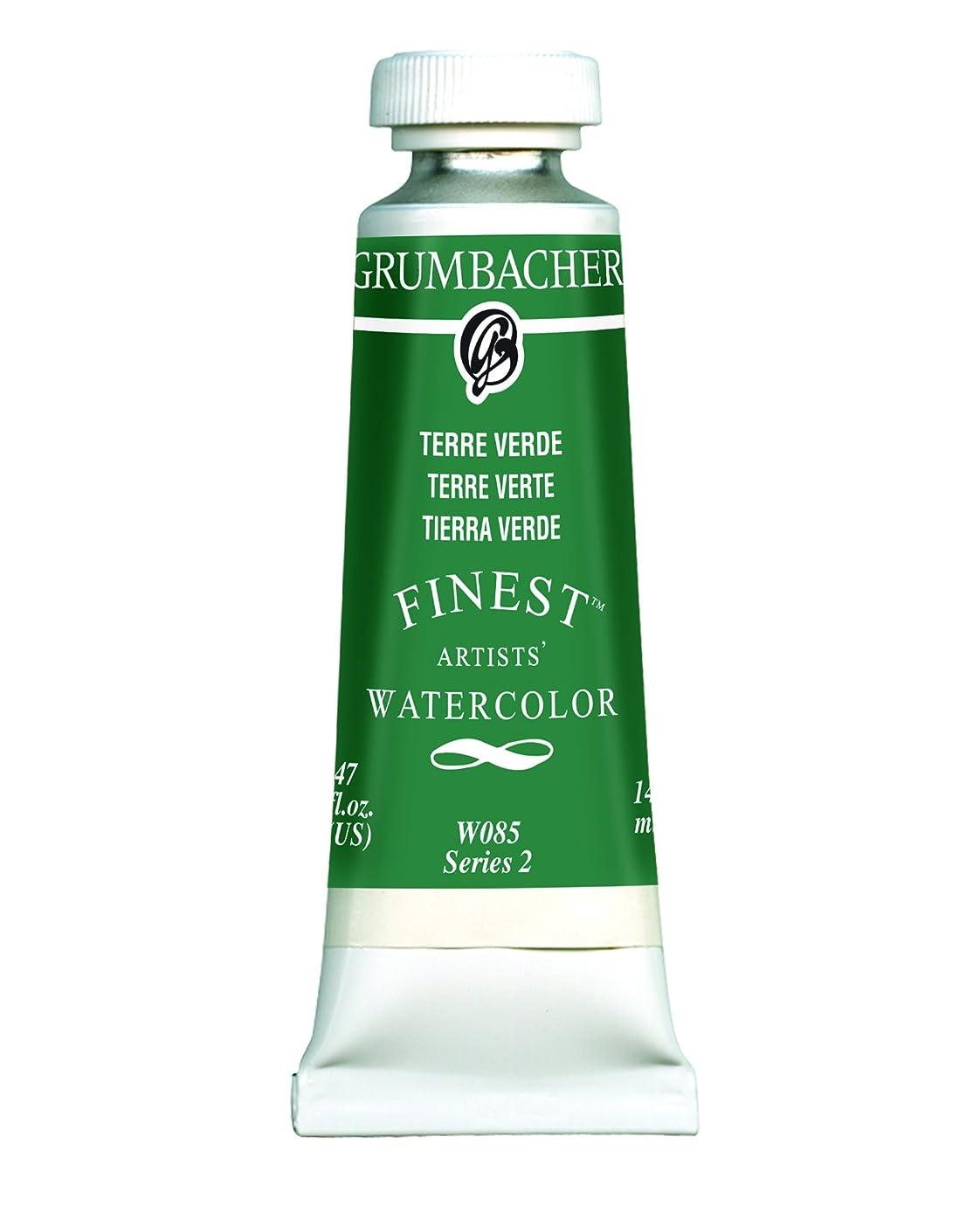 Grumbacher Finest Watercolor Paint, 14 ml/0.47 oz, Terre Verde