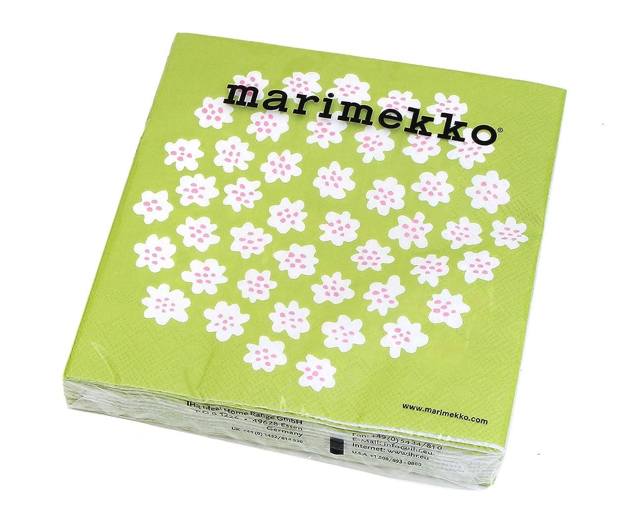判読できない水平方法論マリメッコ(marimekko) ペーパーナプキン プケッティ ライトグリーン 33x33cm 20枚入り PUKETTI 575729 [並行輸入品]