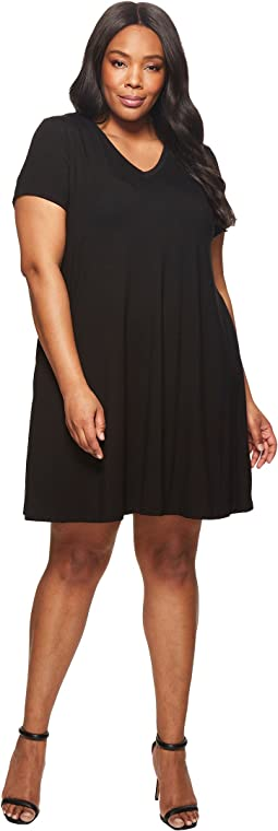 Karen Kane Plus Plus Size Quinn V-Neck Pocket Dress