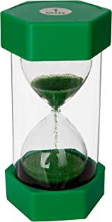 Playlearn Sand timer hour glass for kids, teachers, therapists, classroom, office desk, kitchen, decoration, sensory room. 1 minute hourglass timer. Green. Large size