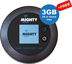 MightyWifi Worldwide high Speed Hotspot with US or Global 3GB Data for 30 Days, Pocket Mifi, Personal, Reliable, Wireless Internet, Router, No Sim Card, No Roaming, Home, Travel